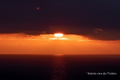 En dan gaat de zon langzaam onder.